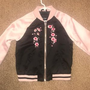 💕 Silky embroidered Girls's bomber jacket 12 💕